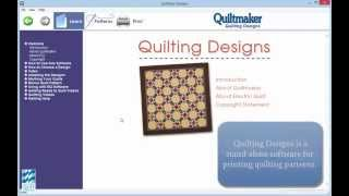 Using Patterns from the Quilting Designs Series