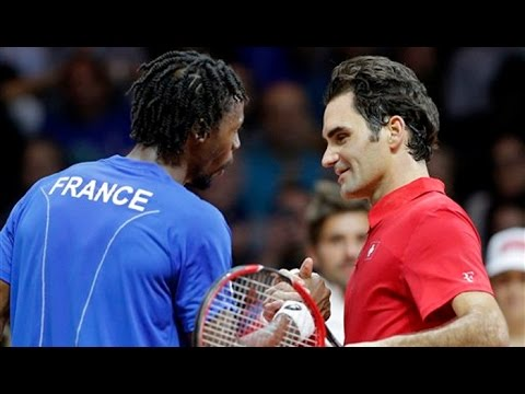 Roger Federer VS Gael Monfils Highlight (Davis Cup) 2014 F