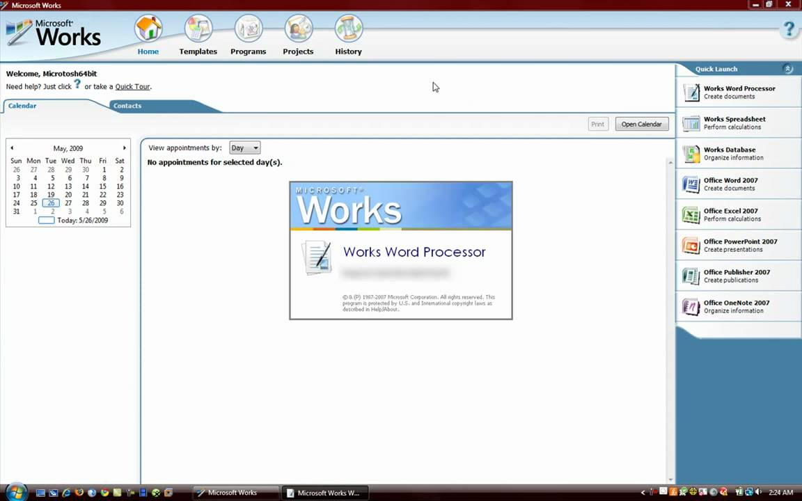 Microsoft Works 8 review Microsoft Works 8