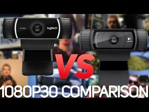 Logitech C922 vs. C920 Webcam Comparison (1080p 30FPS) // King VS. Newbie - 동영상