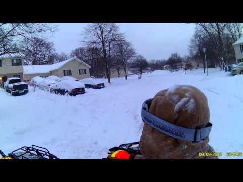 2016 NJ snow storm, State of emergency ATV ride