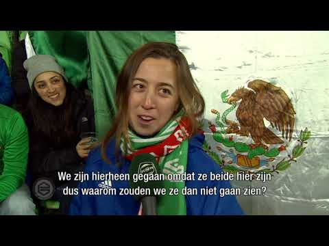 Fans uit Mexico in Noordlease Stadion