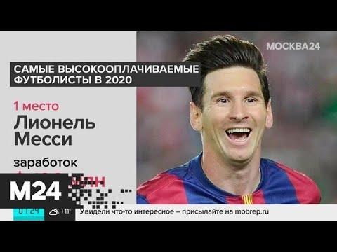 Forbes назвал самых высокооплачиваемых футболистов - Москва 24