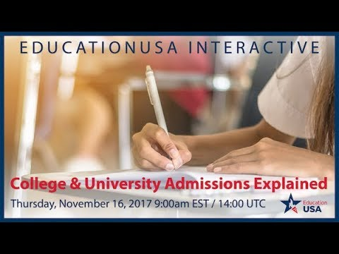 EducationUSA | U.S. College & University Admissions (Nov. 2017)