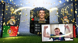 OMFG CRISTIANO RONALDO IN A PACK!!! MY BEST FIFA 18 PACK OPENING EVER!!!