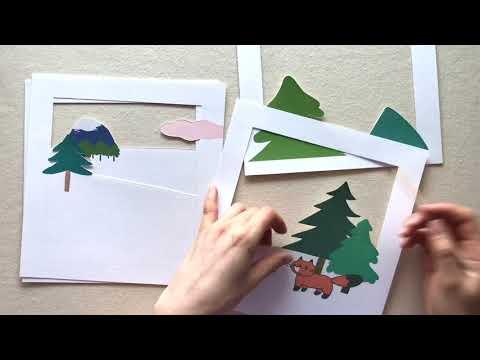 DIY / maison de moon 아이방 무드등 만들기 / papercut light box