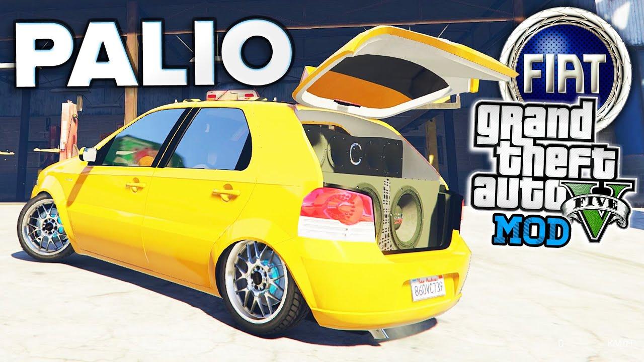 Gta v fiat palio rebaixado com som mod carros brasileiros youtube altavistaventures Images