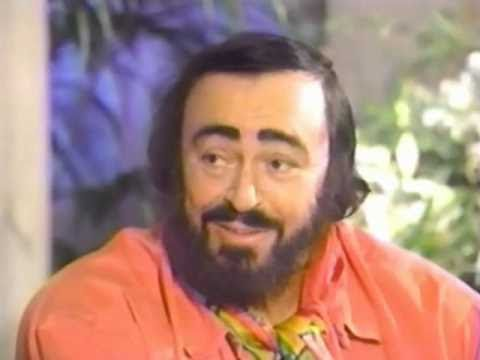 Luciano Pavarotti is interviewed by Kathie Lee, 1996