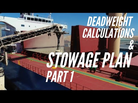 Deadweight Calculation and Stowage Plan | Bulk Carriers | Part 1 | Simple explanation