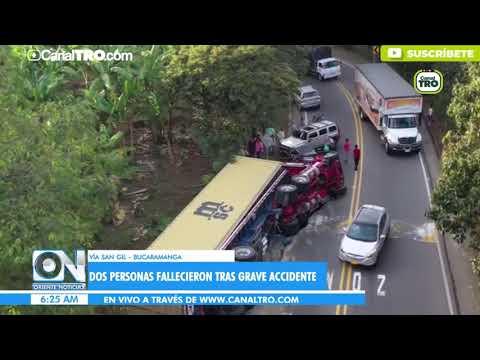 Dos Personas Fallecieron Tras Grave Accidente En La Vía San Gil - Bucaramanga