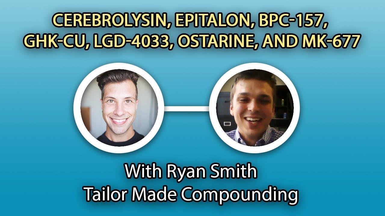 Cerebrolysin, Epitalon, BPC-157, GHK-cu, LGD-4033, Ostarine, and MK