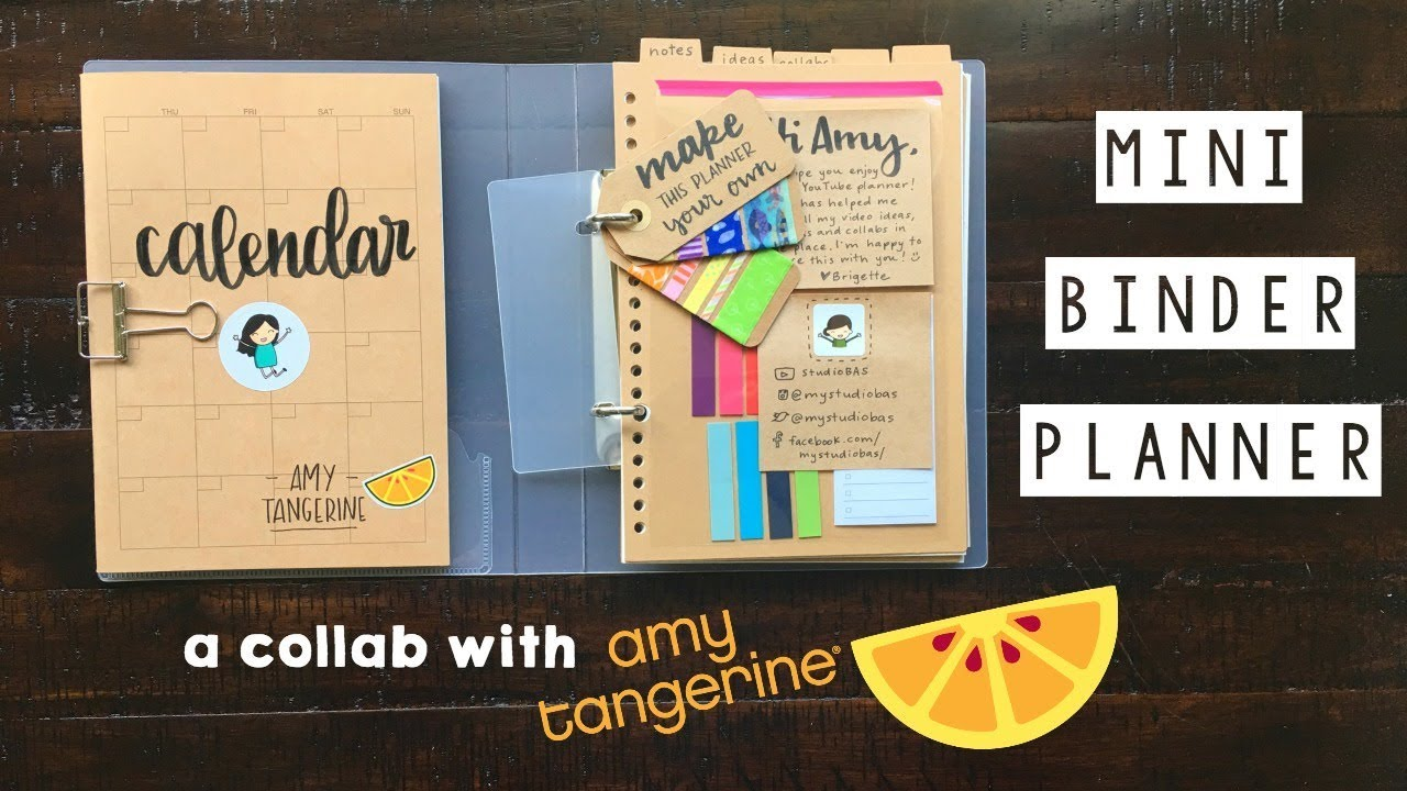 picture about Planner Binders referred to as Mini Binder Planner for Amy Tangerine