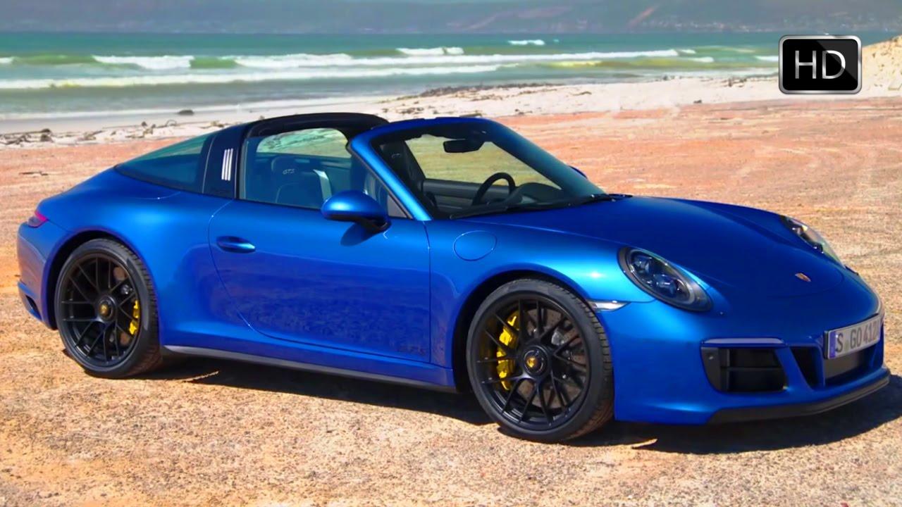 2018 Porsche 911 Targa 4 Gts Sapphire Blue Exterior Interior Design Hd