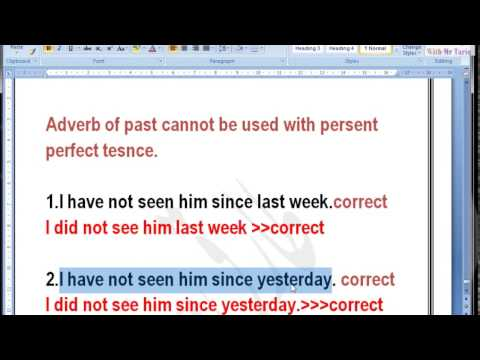 lesson six adverbs of frequency exercises in past tense