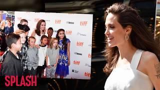Angelina Jolie Looks Radiant at 'The Breadwinner' Premiere With Her Kids   Splash News TV