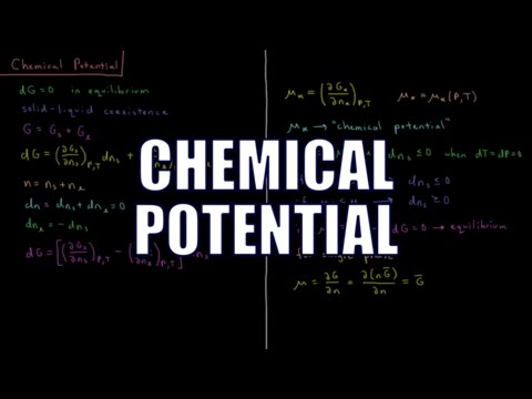 Chemical Thermodynamics 7.3 - Chemical Potential