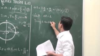 Giải bài dao động điều hòa hay bằng Ứng dựng vòng tròn lượng giác (Phần 1)