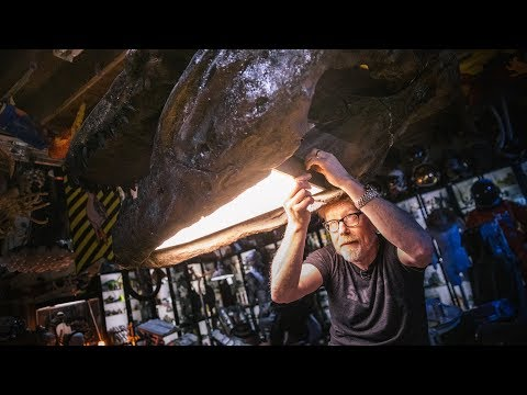 Adam Savage's One Day Builds: Dinosaur Skull Lamp!