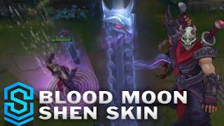 Blood Moon Shen 2016 Update Skin Spotlight Pre Release League