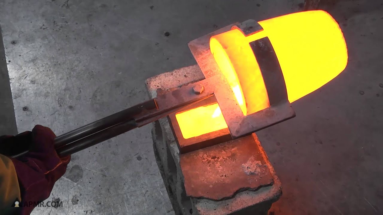Melting Pure Gold Sponge and Pouring a Gold Bar - YouTube