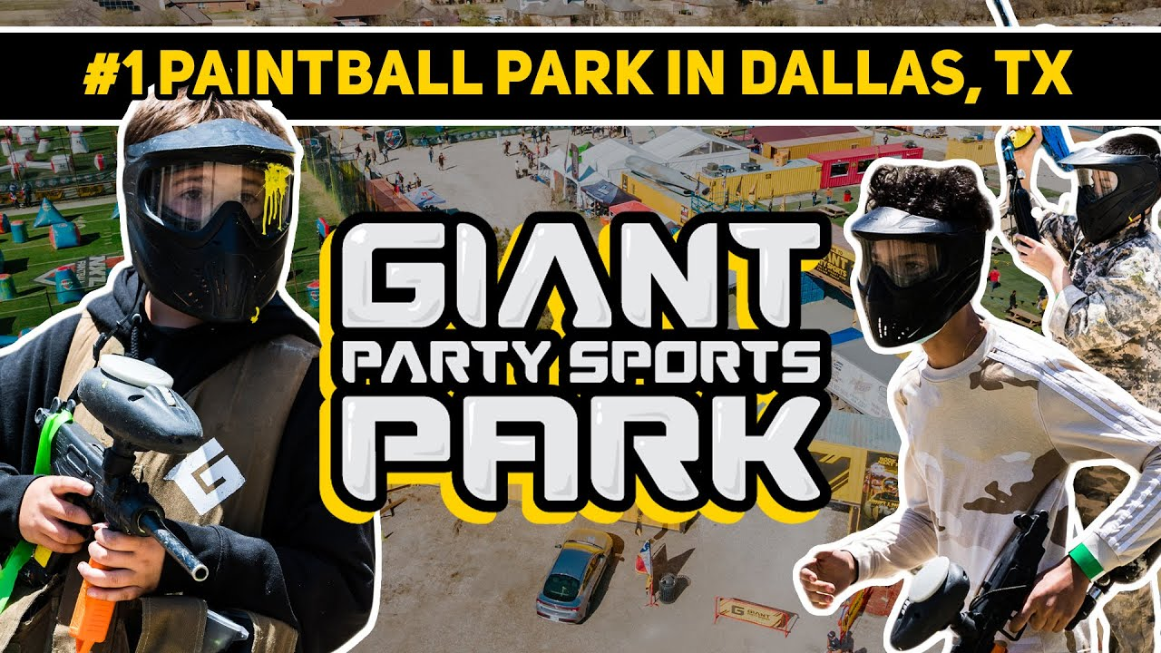 Dallas, Texas paintball park - Giant Party Sports Paintball & Airsoft Park
