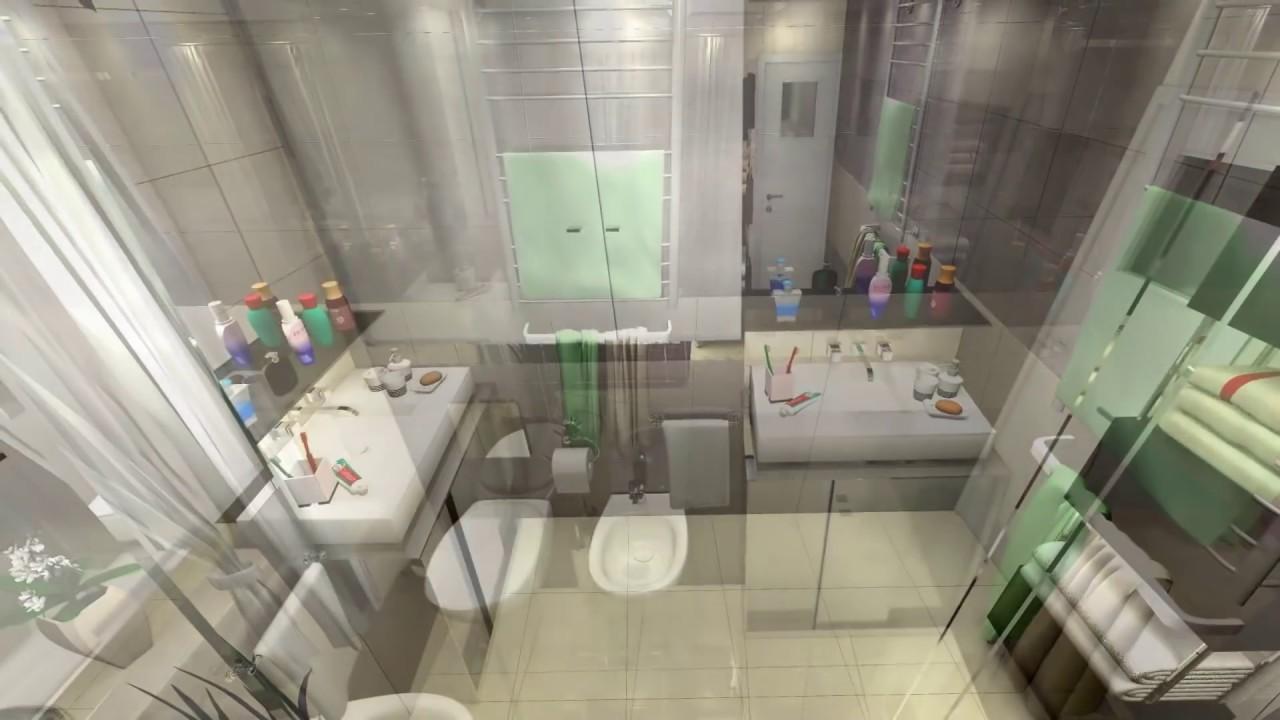 Wizualizacja Projekt łazienki Przykład