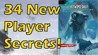 34 New Player Secrets!   Rime of the Frostmaiden DMs Guide