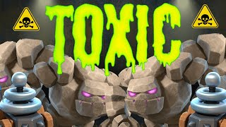 THIS TOXIC DECK IS TAKING OVER CLASH ROYALE! (NEW GOLEM CLONE)