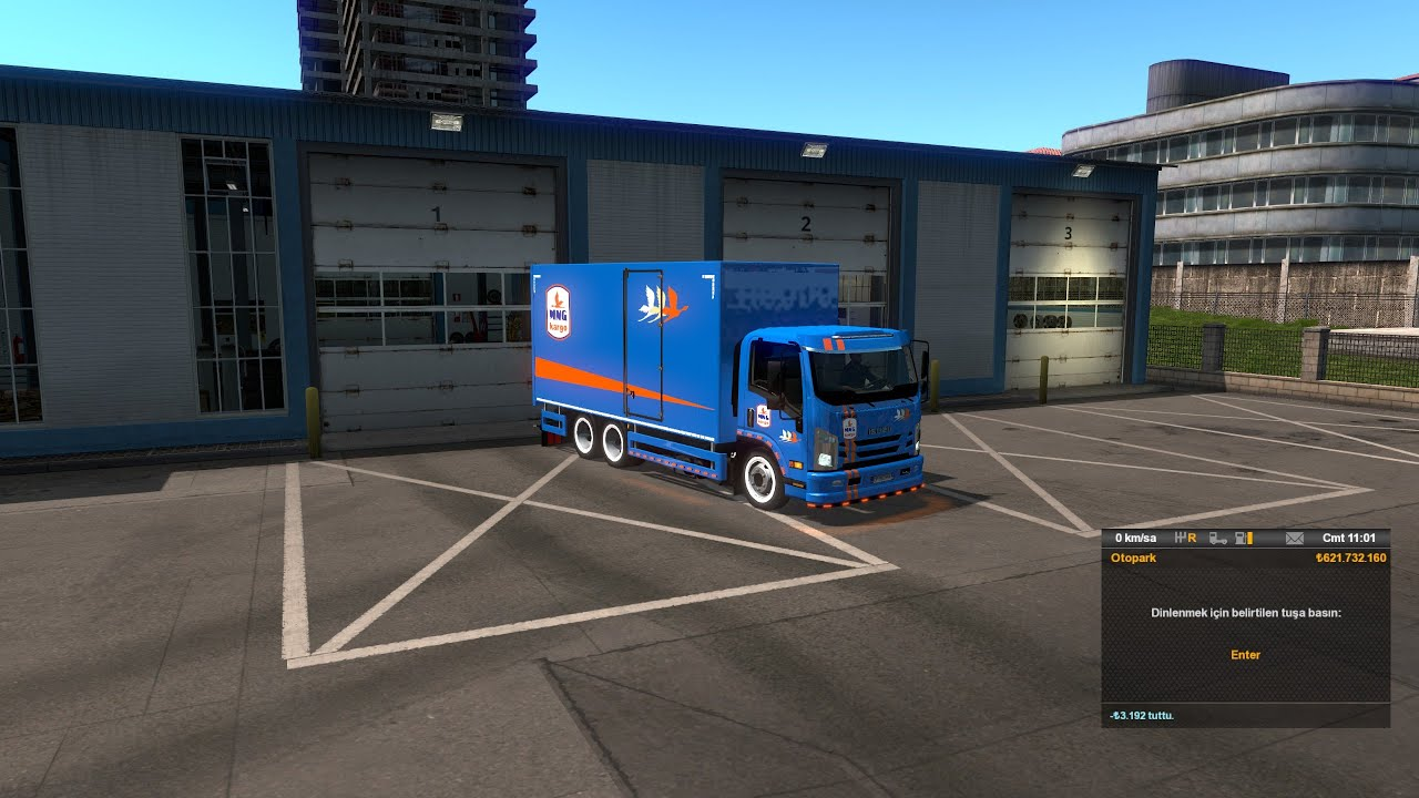SAMSUN-TRABZON KARGO TAŞIMA (Euro Truck Simulator 2) DeTbiT  Isuzu NPR kamyon modu