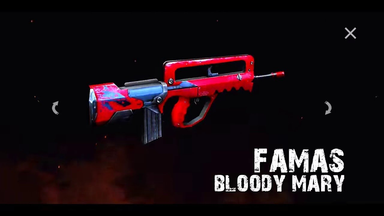 Sccariest Weapon Skin In Garena Free Fire Bloody Mary