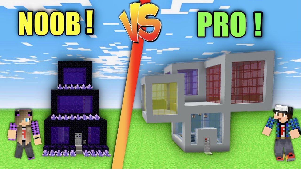 NOOB VS PRO Ποιος θα φτιάξει το πιο εντυπωσιακό σπίτι Minecraft