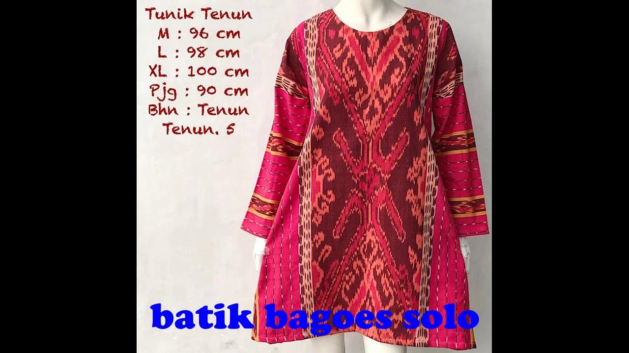 Model Baju Batik Wanita Tunik Dan Blus Bahan Tenun Terbaru