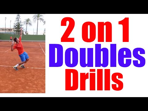 2 on 1 Doubles Drills | Top Tennis Training