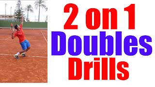 Video 2 on 1 Doubles Drills | Top Tennis Training download MP3, 3GP, MP4, WEBM, AVI, FLV Juni 2018
