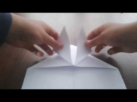 How to make a paper airplane glider