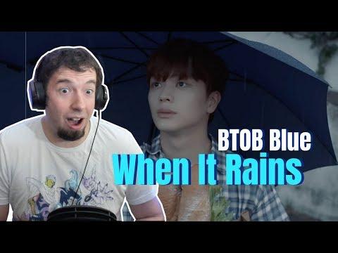 """BTOB-BLUE """"When It Rains"""" Reaction & Review   JG-Reviews:KPOP"""