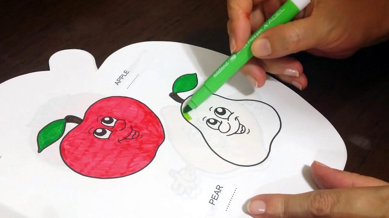 Elma Ve Armut Boyama Sayfası çocuklar Için Eğlenceli Videolar