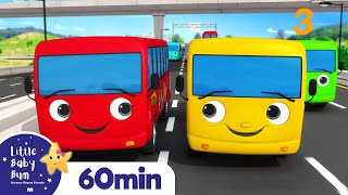 Ten Little Buses | Wheels On The Bus, Vehicle Songs & Nursery Rhymes | ABCs & 123s | Little Baby Bum