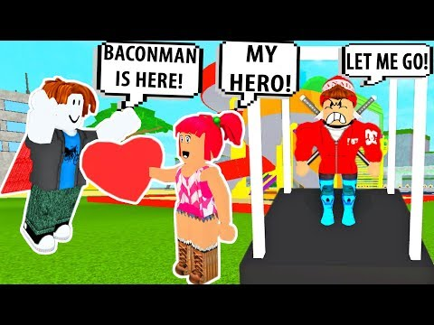 ROBLOX BACON SAVES GIRL FROM BULLIES! BACONMAN #3!Roblox Admin Commands | Roblox Funny Moments!