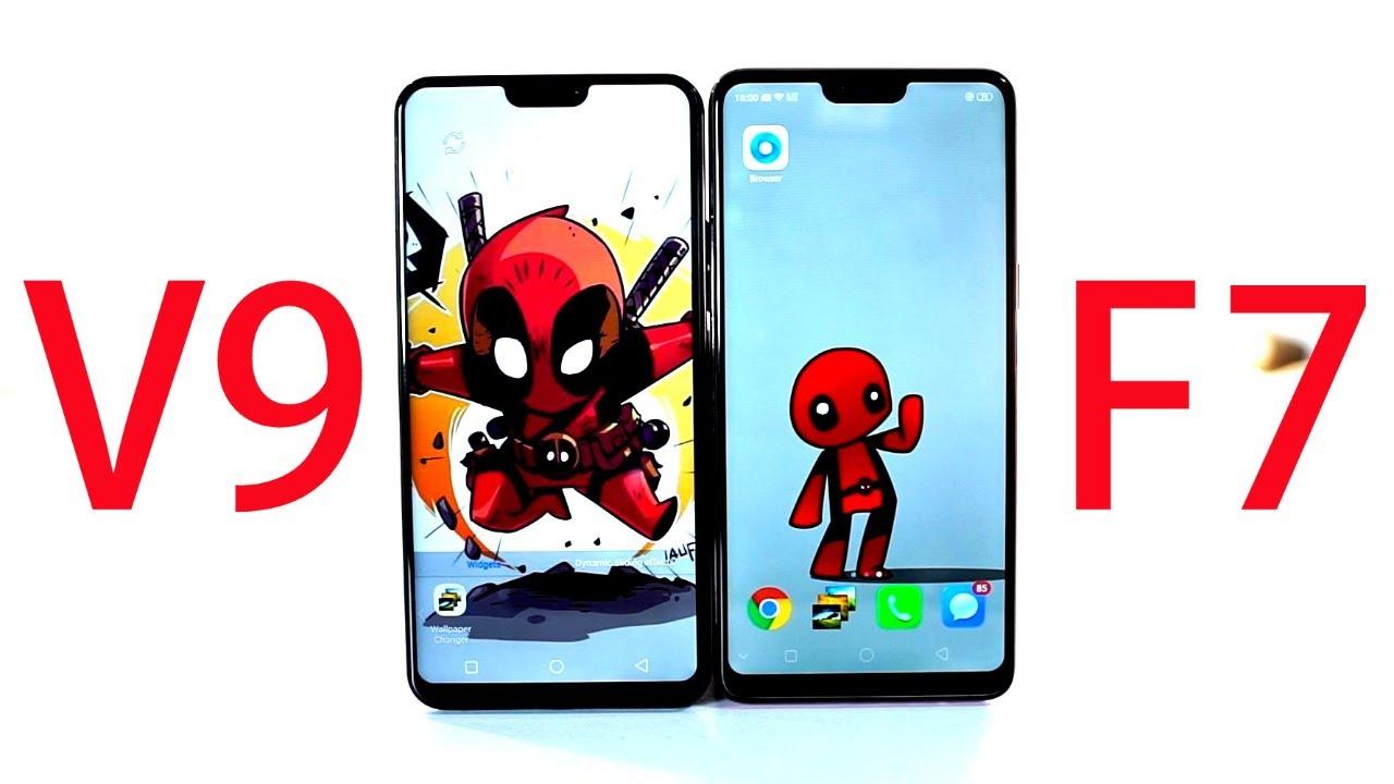Oppo F7 Vs Vivo V9 Comparison Youtube