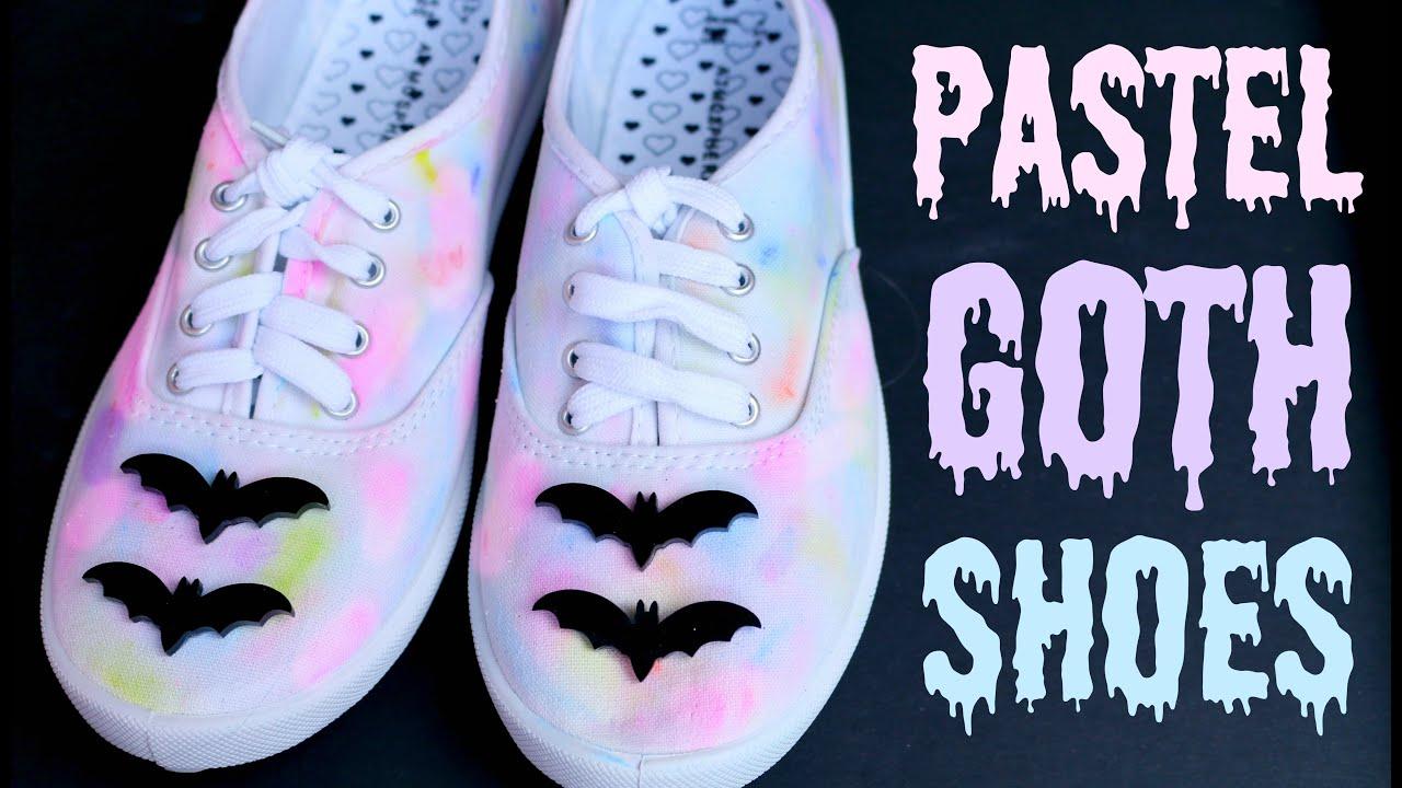 b96805ec3e DIY Pastel Goth Tumblr Shoes - YouTube