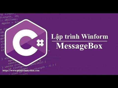 Lập trình C# winform - MessageBox
