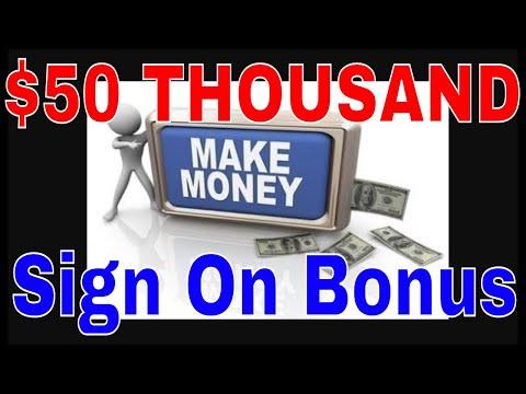 50 THOUSAND DOLLAR Sign On Bonus??? RVT