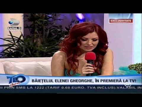"Elena Gheorghe in cadrul emisiunii ""TEO SHOW"""