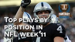Top Plays By Position in NFL Week 11 | Daily Fantasy Football | DailyFantasyWinners