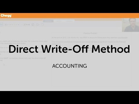 Direct Write-Off Method | Accounting | Chegg Tutors