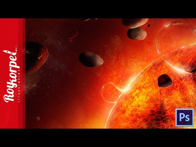 #Photoshop manipulation space art | The red hot giant