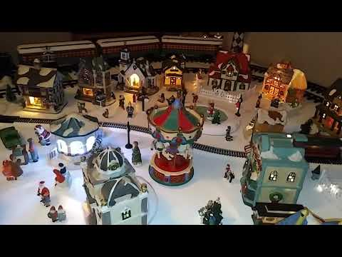 Skaters and carousel on our 2017 Christmas Vilage
