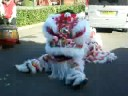 lion dance in bicester north (UK), Sky Dragon Takeaway