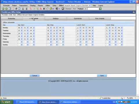 Planet DDS Dental Software Setup - Providers Per Office